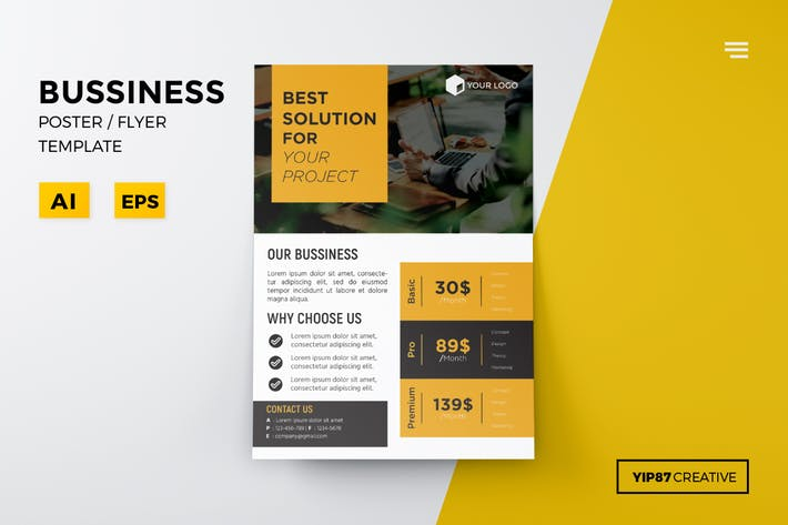 business pricing flyer by yip87 on envato elements