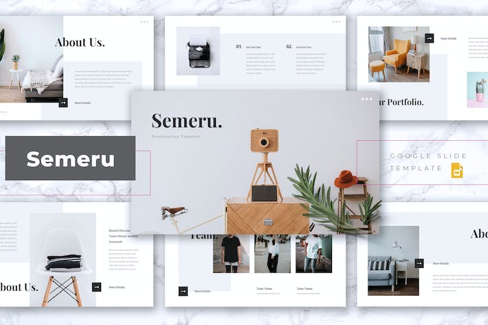 Thumbnail for SEMERU - Creative Google Slides Template