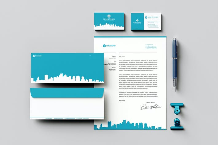 Thumbnail for Construct Branding Identity & Stationery Pack