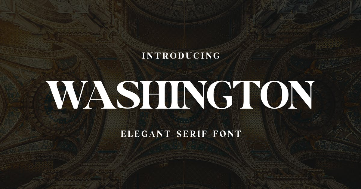 Download Washington Display Serif Font by uicreativenet