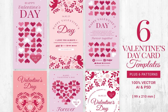 Thumbnail for Valentine's Card Templates