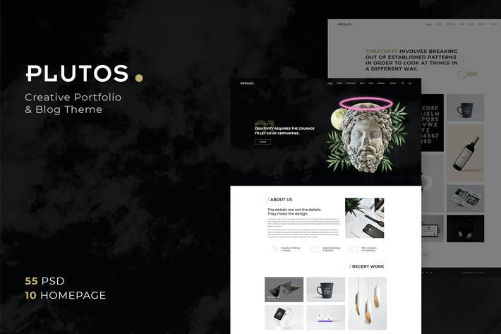 Thumbnail for Plutos - Porfolio Creativo y Plantilla de Blog