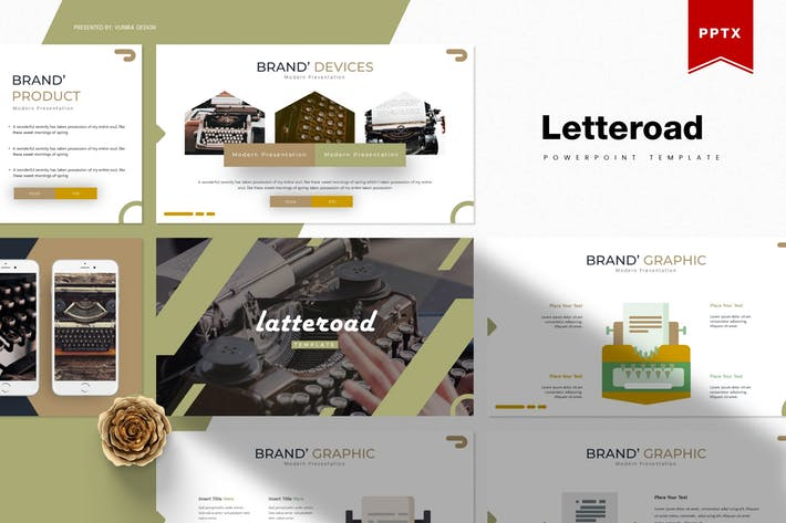 Thumbnail for Letteroad | Powerpoint Template
