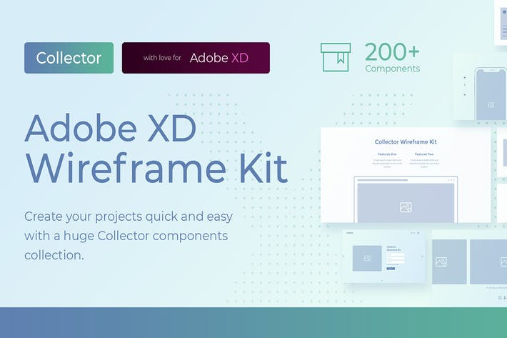 Thumbnail for Collector Wireframe Web Kit