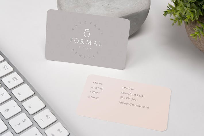 Thumbnail for Rounded Business Card Mockup