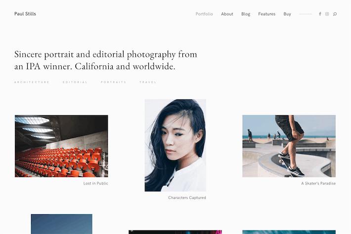 Stills — A Minimalist WordPress Photography Theme