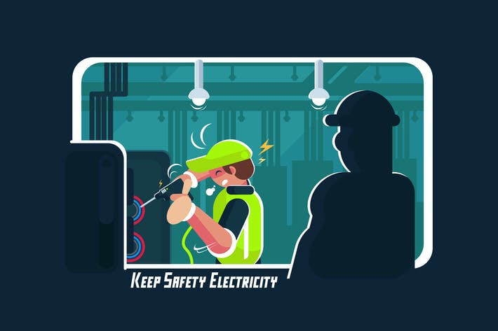 Thumbnail for Keep Safety Electricity - Vector Acivity