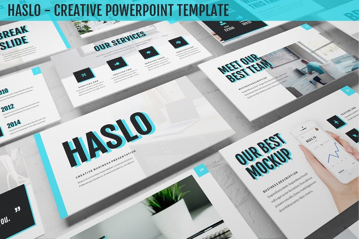 Thumbnail for Haslo - Creative Powerpoint Template