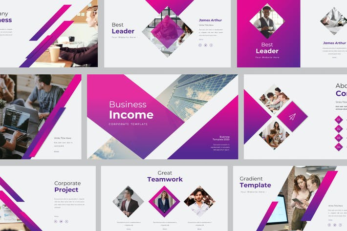 Thumbnail for Business Income Powerpoint Template