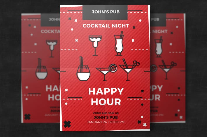 Thumbnail for Pub Happy Hour Flyer Template