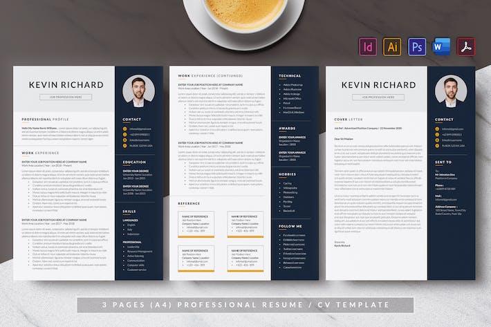 Cover Image For Resume & CV Minimalist - Antemp