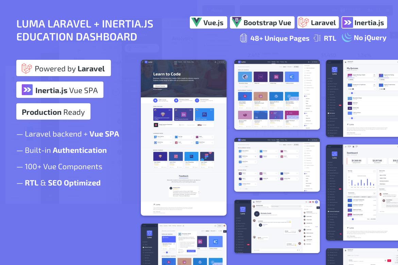 Luma Laravel LMS & Vue Education Admin Dashboard