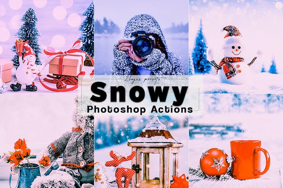 Snow Photoshop Actions