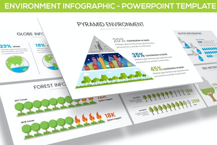 Thumbnail for Environment Infographic for Powerpoint
