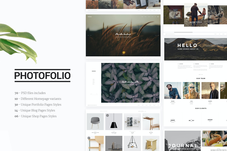 Photofolio   Photography & Portfolio PSD Template by upifix on ...