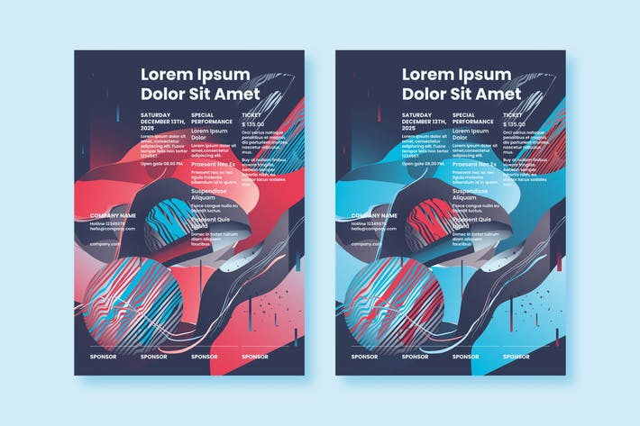Thumbnail for Abstract Poster Templates