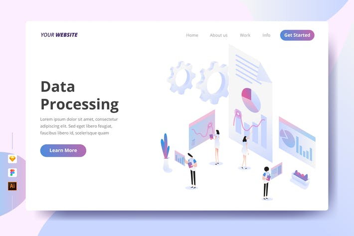 Data Processing - Landing Page