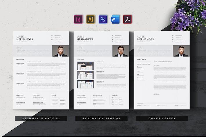 Thumbnail for Minimalist Resume/CV Template AN