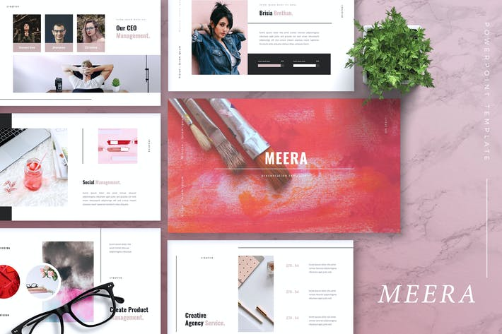 Thumbnail for MEERA - Creative Agency Powerpoint Template