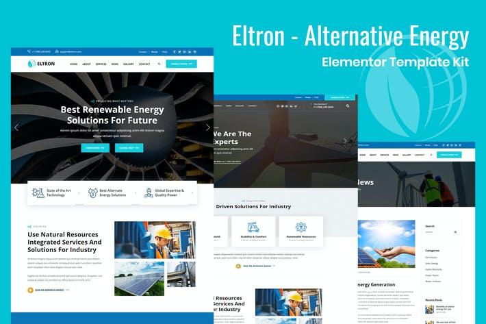 Thumbnail for Eltron - Alternative Energy HTML Template
