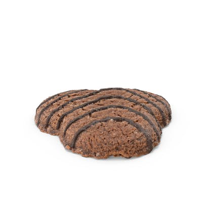 Dark Cookie With Chocolate