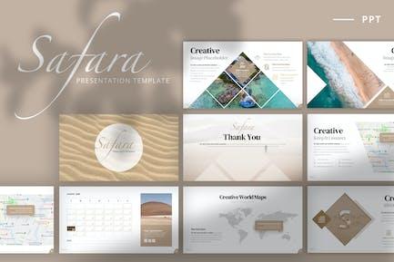 Safara - Powerpoint Template + 2020 Calendar