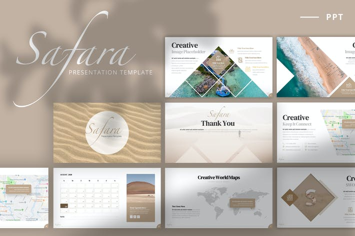 Thumbnail for Safara - Powerpoint Template + 2020 Calendar