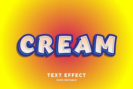 Cream cartoon bold text style effect