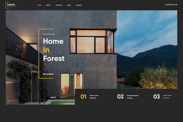 Larson | Architecture & Interior HTML template
