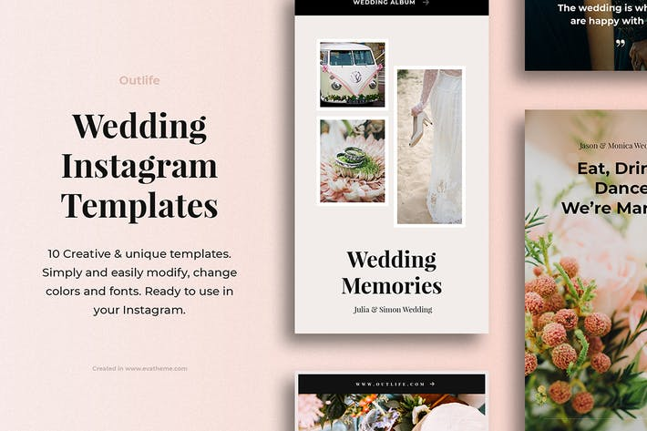 Thumbnail for Outlife Wedding Instagram Templates