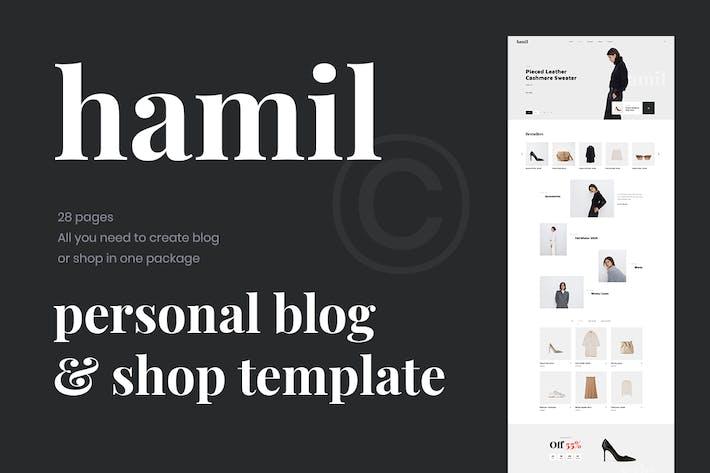 Thumbnail for Hamil - Blog & Shop PSD Template