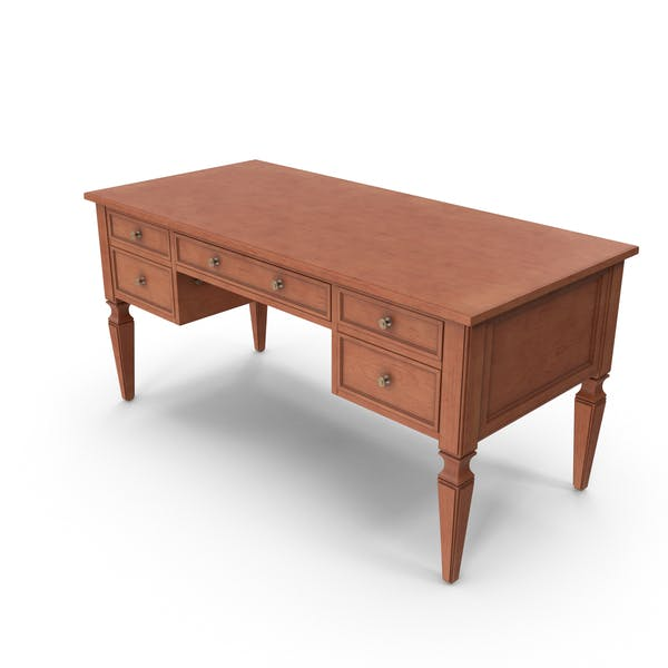 Thumbnail for Traditional Desk Brown Finish