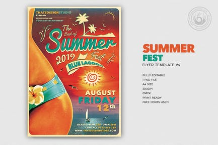 Summer Fest Flyer Template V4