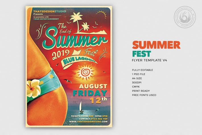 Cover Image For Summer Fest Flyer Template V4