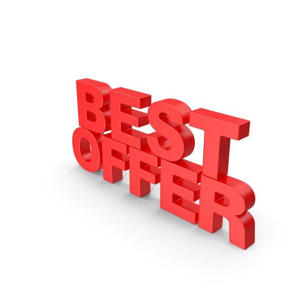 Thumbnail for Best Offer 3D Text