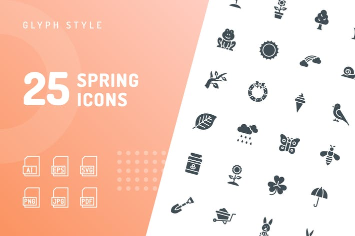 Thumbnail for Spring Glyph Icons