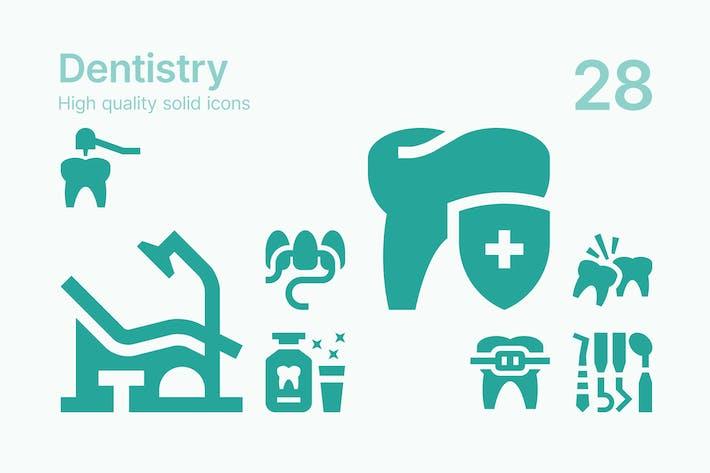 Zahnmedizinische Icons