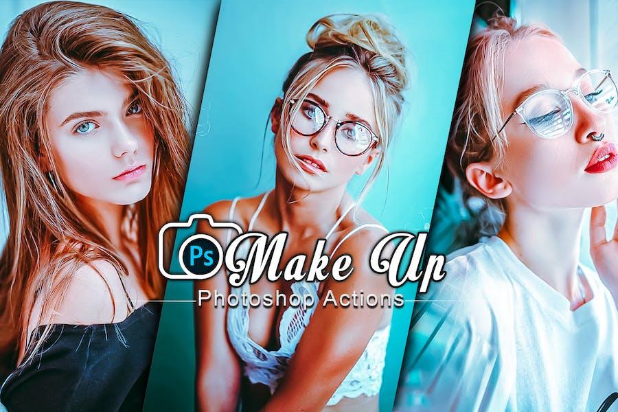 Фильтр-макияж Действия Photoshop