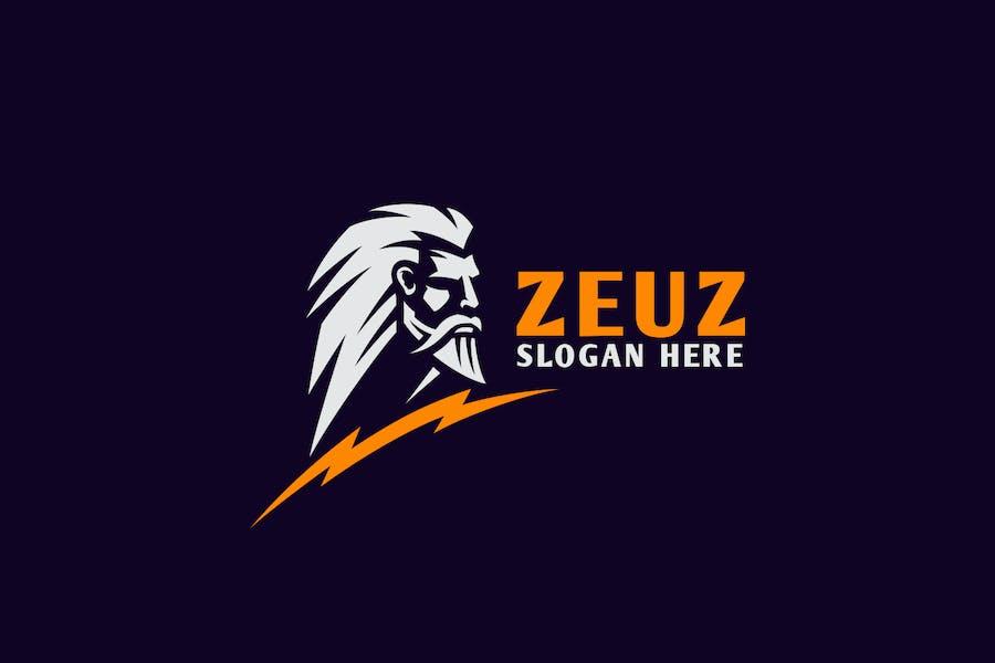 Zeus Greek God Capital Logo Design