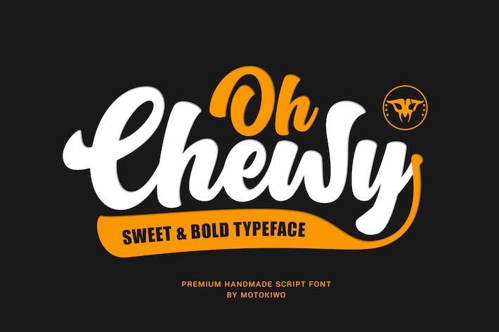 Thumbnail for Oh Chewy - Fuente de escritura dulce y negrita