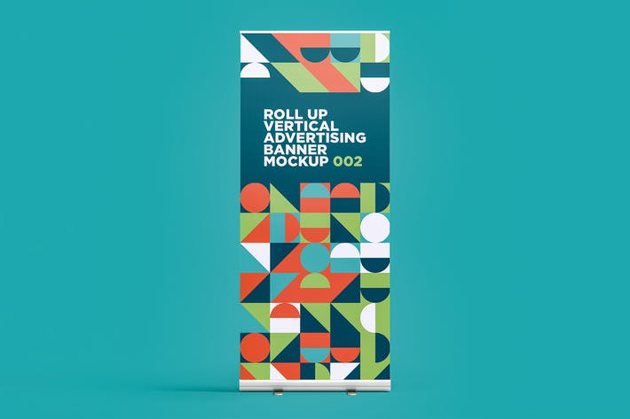 Thumbnail for Roll Up Vertikale Werbung Banner Mockup 002