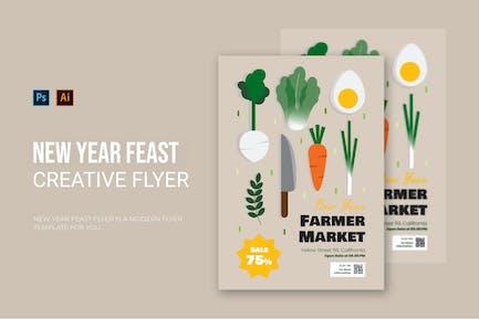 New Year Feast - Flyer