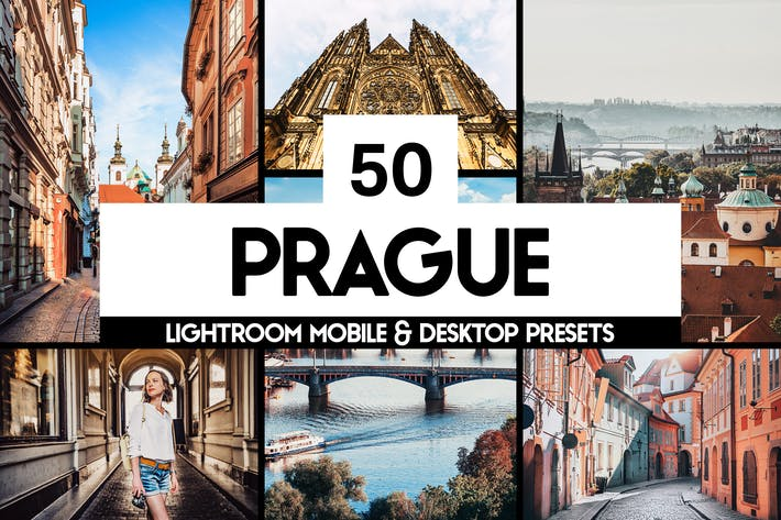 Thumbnail for 50 Prague Lightroom Presets and LUTs