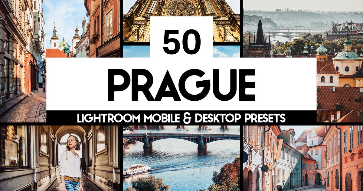 Download 50 Prague Lightroom Presets and LUTs by sparklestock