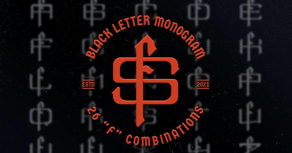 Download F Black Letter Monogram Logo Vol.3 by Farhan_Haikal