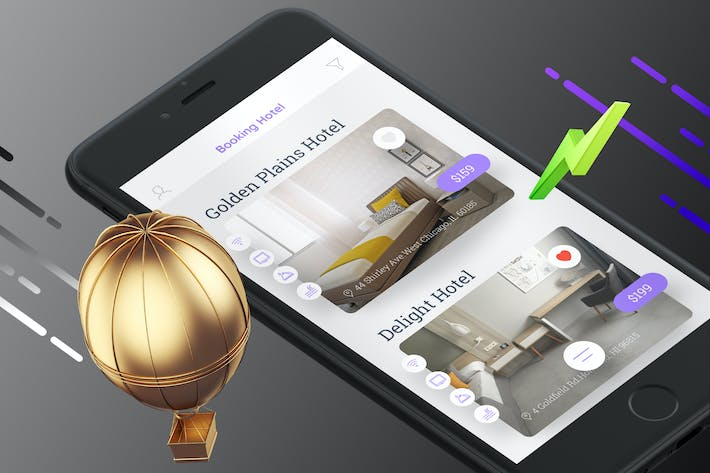 Thumbnail for Booking Hotel 3 Mobile Ui - TH