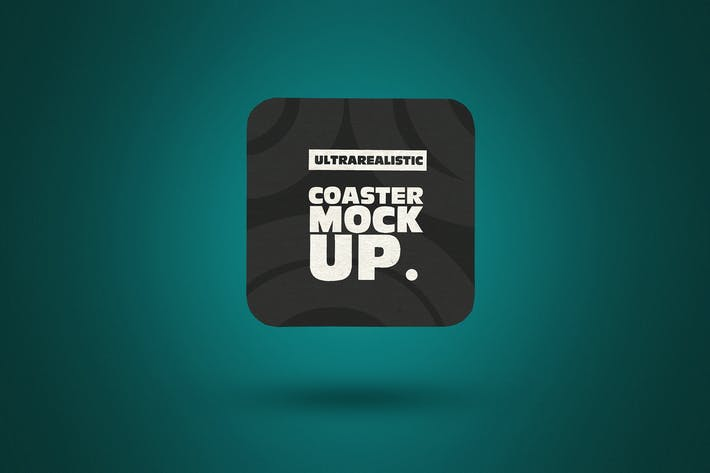 Thumbnail for Clean Square Coaster Mockup
