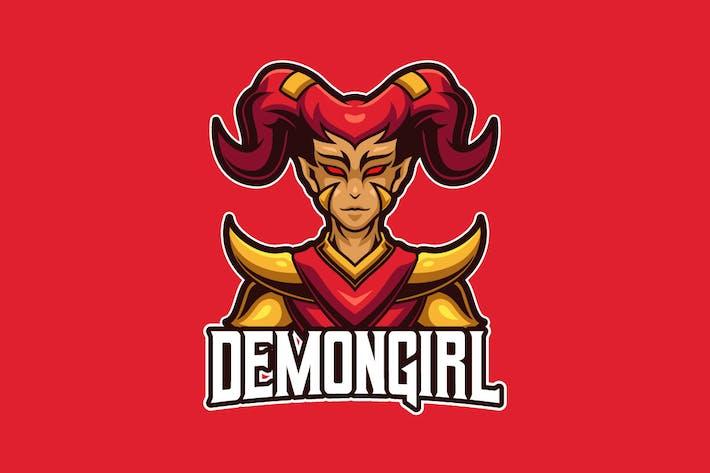 Thumbnail for Demon Girl E-sports Logo Template