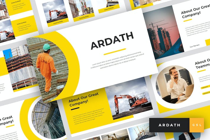 Thumbnail for Ardath - Construction Google Slides Template