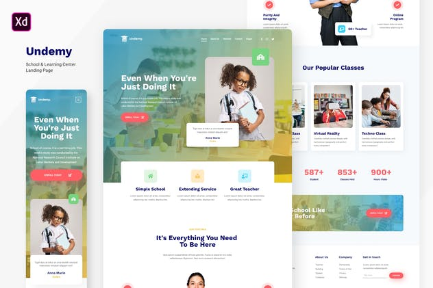 Undemy - School & Learning Center Landing Page